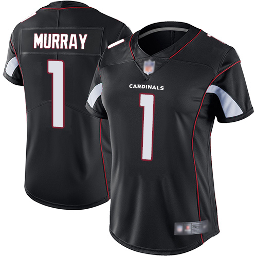 Cardinals #1 Kyler Murray Black Alternate Women's Stitched Football Vapor Untouchable Limited Jersey