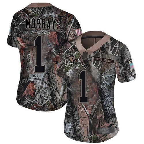 Cardinals #1 Kyler Murray Camo Women's Stitched Football Limited Rush Realtree Jersey