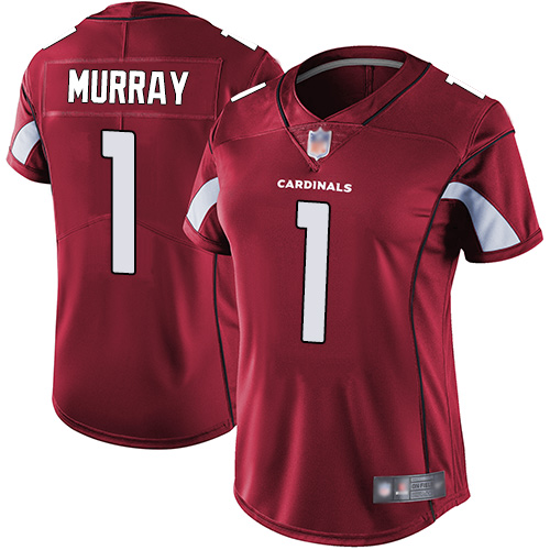 Cardinals #1 Kyler Murray Red Team Color Women's Stitched Football Vapor Untouchable Limited Jersey