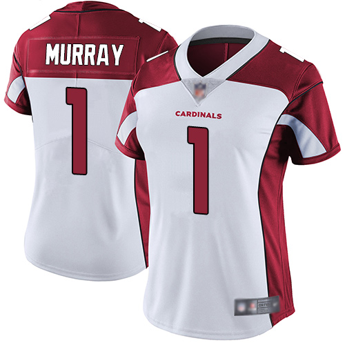 Cardinals #1 Kyler Murray White Women's Stitched Football Vapor Untouchable Limited Jersey