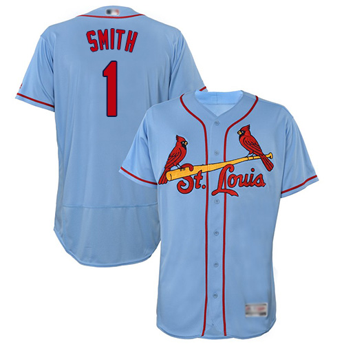 Cardinals #1 Ozzie Smith Light Blue Flexbase Authentic Collection Stitched Baseball Jersey