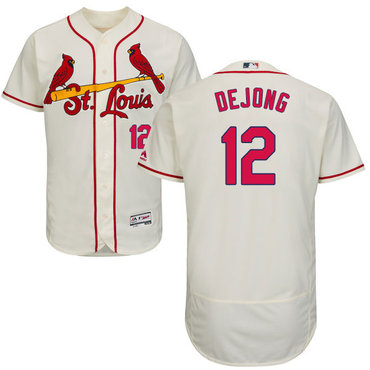 Cardinals #12 Paul DeJong Cream Flexbase Authentic Collection Stitched Baseball Jersey