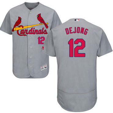 Cardinals #12 Paul DeJong Grey Flexbase Authentic Collection Stitched Baseball Jersey