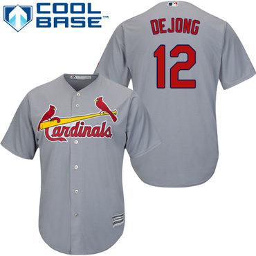 Cardinals #12 Paul DeJong Grey New Cool Base Stitched Baseball Jersey