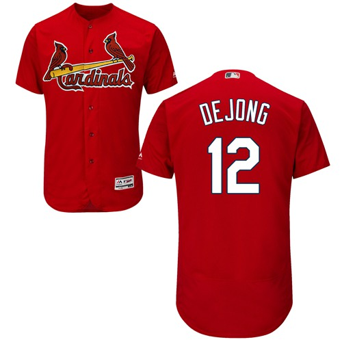 Cardinals #12 Paul DeJong Red Flexbase Authentic Collection Stitched Baseball Jersey