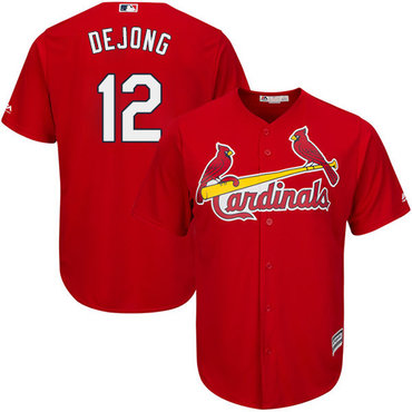 Cardinals #12 Paul DeJong Red New Cool Base Stitched Baseball Jersey