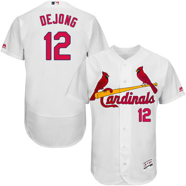 Cardinals #12 Paul DeJong White Flexbase Authentic Collection Stitched Baseball Jersey