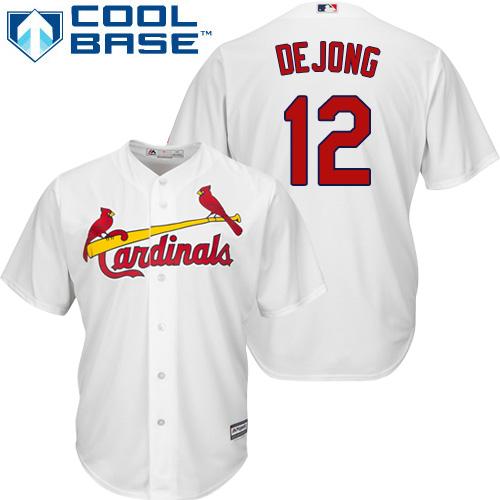 Cardinals #12 Paul DeJong White New Cool Base Stitched Baseball Jersey