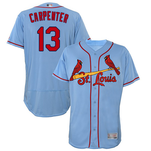 Cardinals #13 Matt Carpenter Light Blue Flexbase Authentic Collection Stitched Baseball Jersey