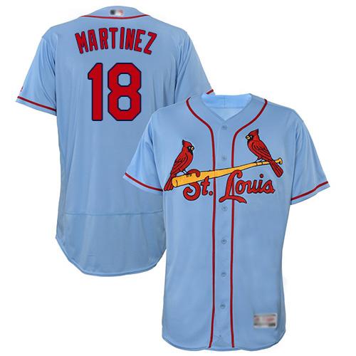 Cardinals #18 Carlos Martinez Light Blue Flexbase Authentic Collection Stitched Baseball Jersey