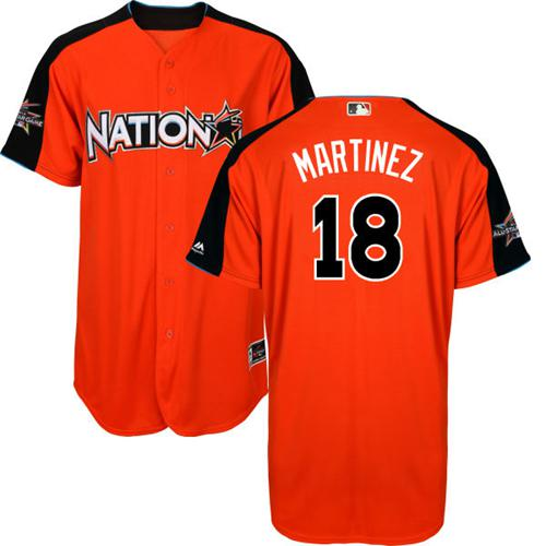 Cardinals #18 Carlos Martinez Orange 2017 All-Star National League Stitched MLB Jersey