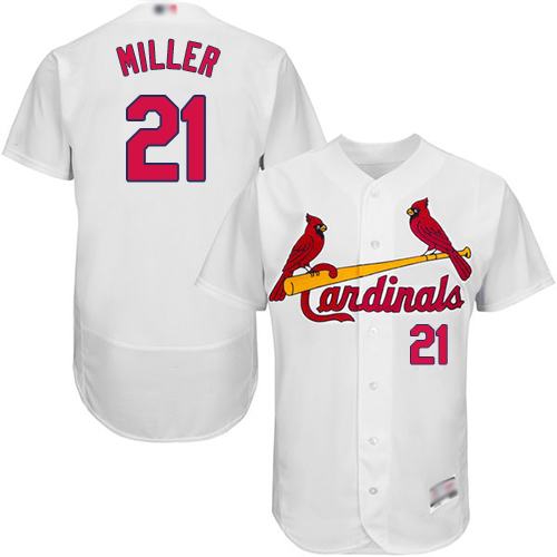 Cardinals #21 Andrew Miller White Flexbase Authentic Collection Stitched Baseball Jersey