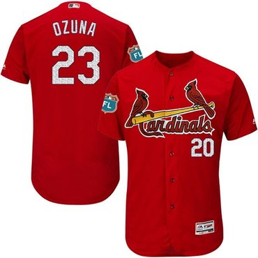 Cardinals #23 Marcell Ozuna Red Flexbase Authentic Collection Stitched MLB Jersey