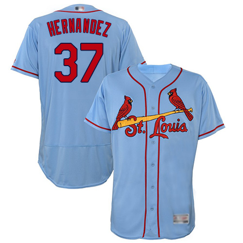 Cardinals #37 Keith Hernandez Light Blue Flexbase Authentic Collection Stitched Baseball Jersey