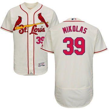 Cardinals #39 Miles Mikolas Cream Flexbase Authentic Collection Stitched Baseball Jersey
