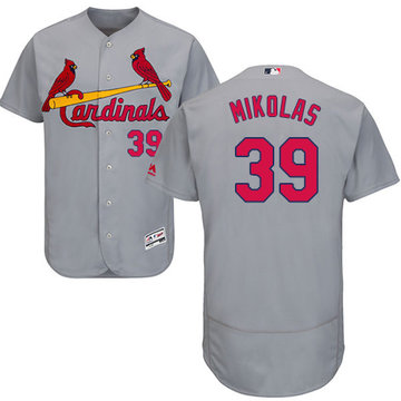 Cardinals #39 Miles Mikolas Grey Flexbase Authentic Collection Stitched Baseball Jersey