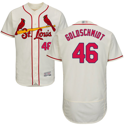 Cardinals #46 Paul Goldschmidt Cream Flexbase Authentic Collection Stitched Baseball Jersey