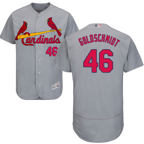 Cardinals #46 Paul Goldschmidt Grey Flexbase Authentic Collection Stitched Baseball Jersey