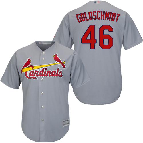 Cardinals #46 Paul Goldschmidt Grey New Cool Base Stitched Baseball Jersey