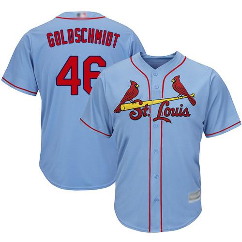Cardinals #46 Paul Goldschmidt Light Blue New Cool Base Stitched Baseball Jersey