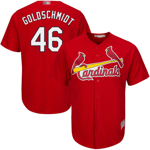Cardinals #46 Paul Goldschmidt Red New Cool Base Stitched Baseball Jersey