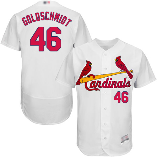 Cardinals #46 Paul Goldschmidt White Flexbase Authentic Collection Stitched Baseball Jersey