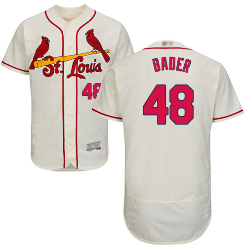 Cardinals #48 Harrison Bader Cream Flexbase Authentic Collection Stitched Baseball Jersey