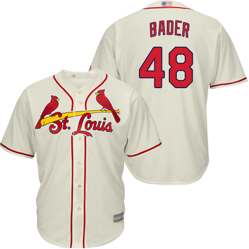 Cardinals #48 Harrison Bader Cream New Cool Base Stitched Baseball Jersey