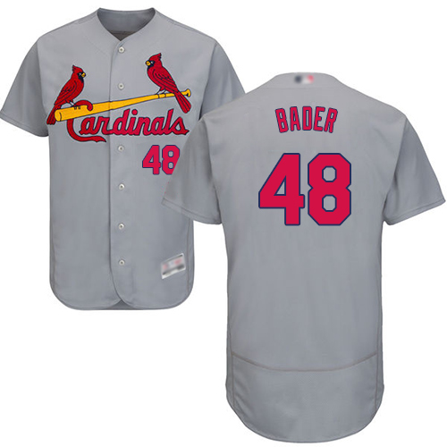 Cardinals #48 Harrison Bader Grey Flexbase Authentic Collection Stitched Baseball Jersey