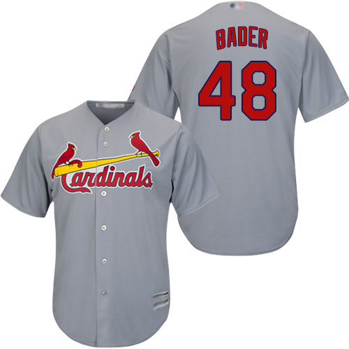 Cardinals #48 Harrison Bader Grey New Cool Base Stitched Baseball Jersey