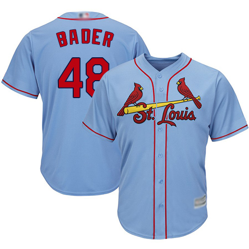 Cardinals #48 Harrison Bader Light Blue New Cool Base Stitched Baseball Jersey