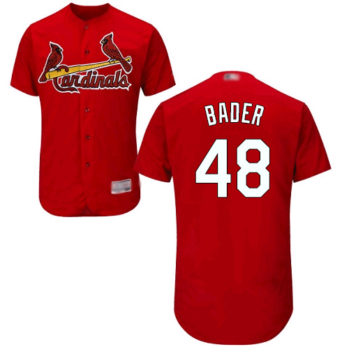 Cardinals #48 Harrison Bader Red Flexbase Authentic Collection Stitched Baseball Jersey