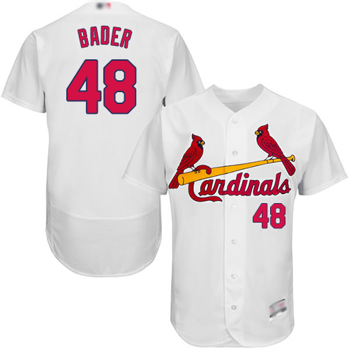 Cardinals #48 Harrison Bader White Flexbase Authentic Collection Stitched Baseball Jersey