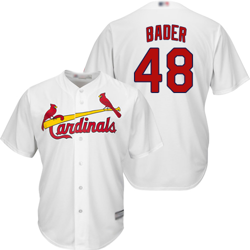 Cardinals #48 Harrison Bader White New Cool Base Stitched Baseball Jersey