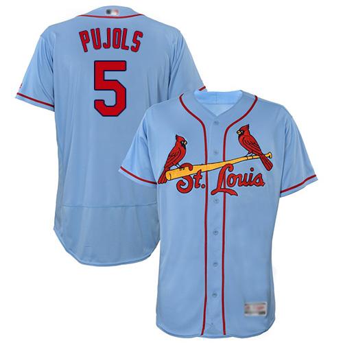 Cardinals #5 Albert Pujols Light Blue Flexbase Authentic Collection Stitched Baseball Jersey