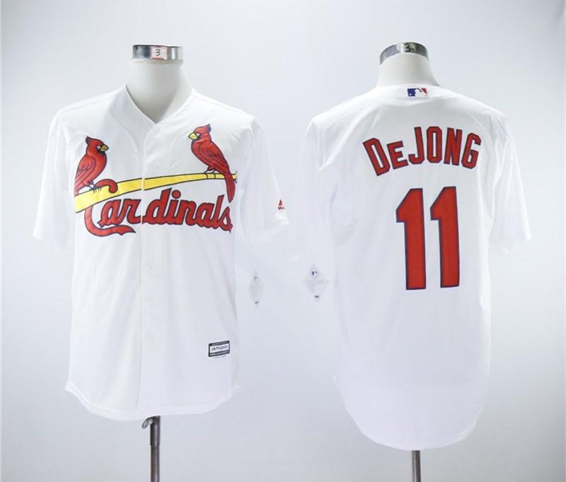 Cardinals 11 Paul DeJong White Cool Base Jersey