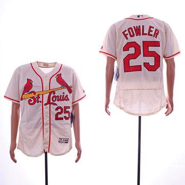 Cardinals 25 Dexter Fowler Cream Flexbase Jersey