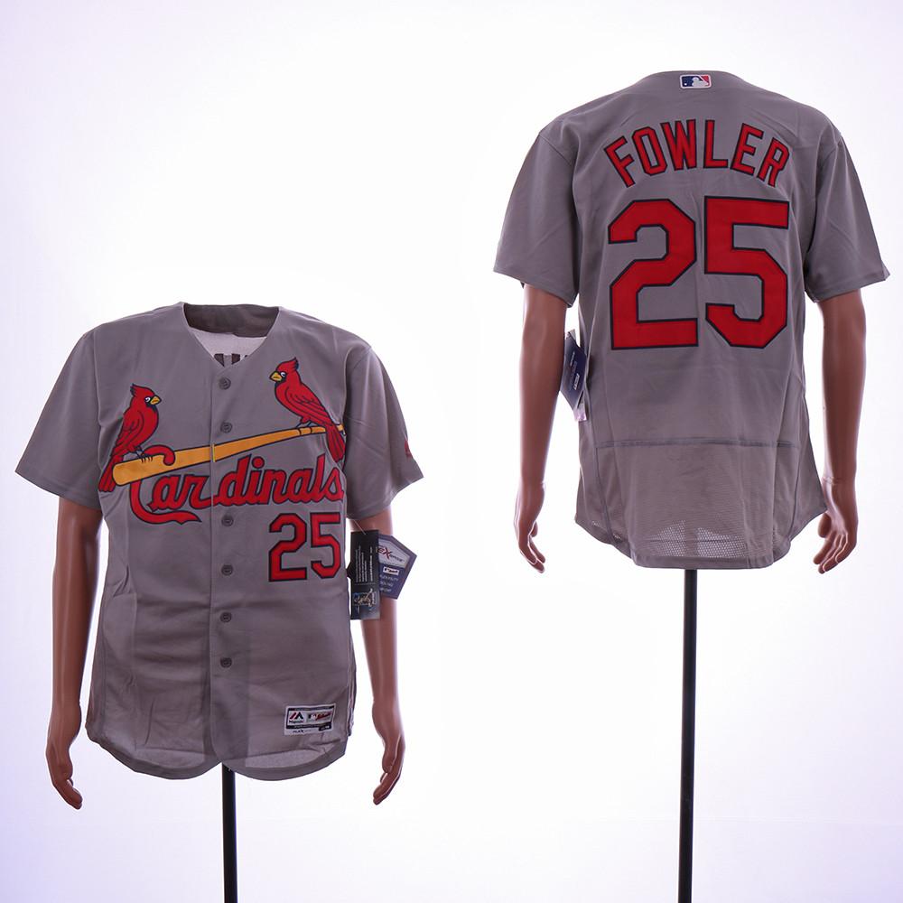 Cardinals 25 Dexter Fowler Gray Flexbase Jersey