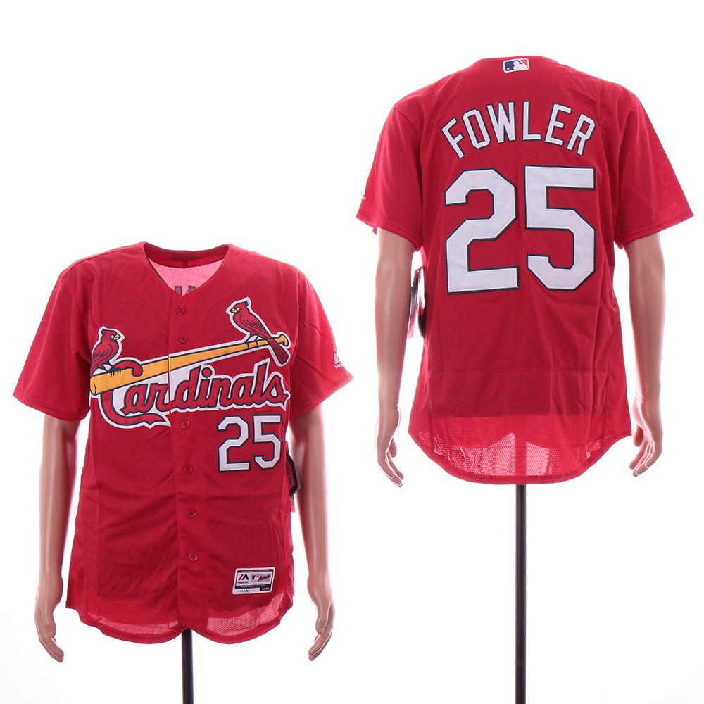 Cardinals 25 Dexter Fowler Red Flexbase Jersey