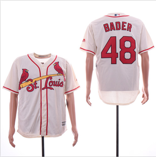 Cardinals 48 Harrison Bader Cream Cool Base Jersey