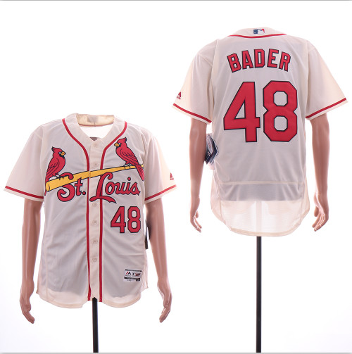 Cardinals 48 Harrison Bader Cream Flexbase Jersey
