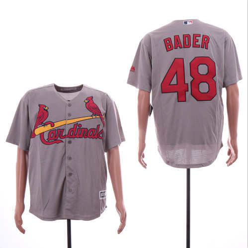 Cardinals 48 Harrison Bader Gray Cool Base Jersey