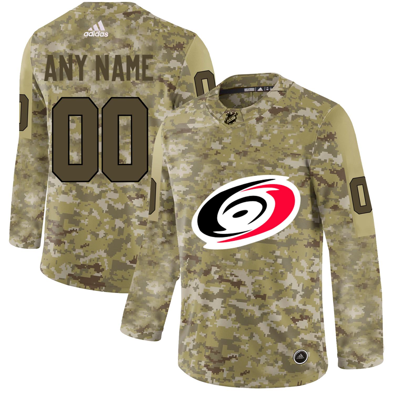 Carolina Hurricanes Camo Men's Customized Adidas Jersey