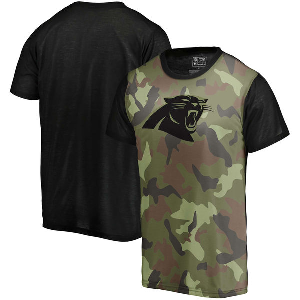 Carolina Panthers Camo NFL Pro Line By Fanatics Branded Blast Sublimated T Shirt