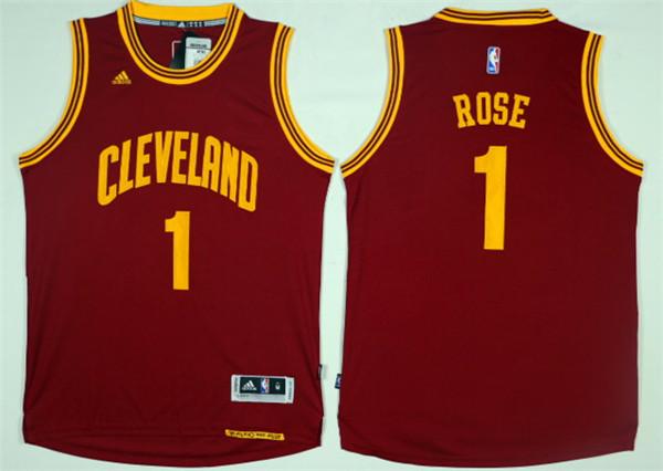 Cavaliers 1 Derrick Rose Red Swingman Jersey