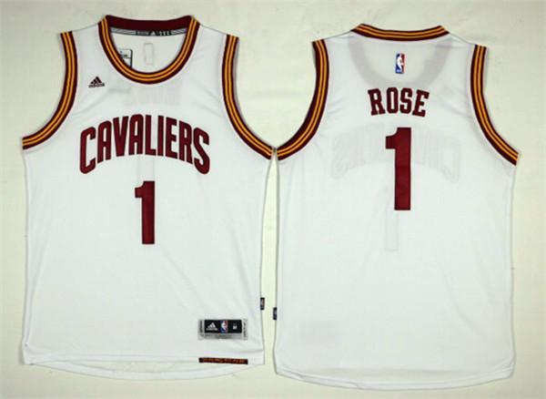 Cavaliers 1 Derrick Rose White Swingman Jersey