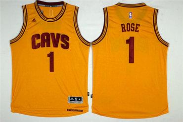 Cavaliers 1 Derrick Rose Yellow Swingman Jersey