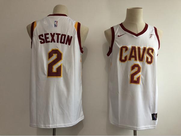 Cavaliers 2 Collin Sexton White Nike Swingman Jersey