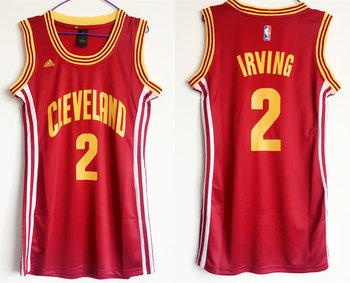 Cavaliers 2 Kyrie Irving Red Women Swingman Jersey