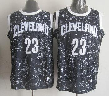 Cavaliers 23 LeBron James Black City Luminous Jersey